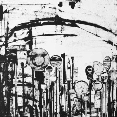 2015 | Collage + Malerei + Acryl auf Leinwand | 90 x 120cm © Ursula van Boekel
