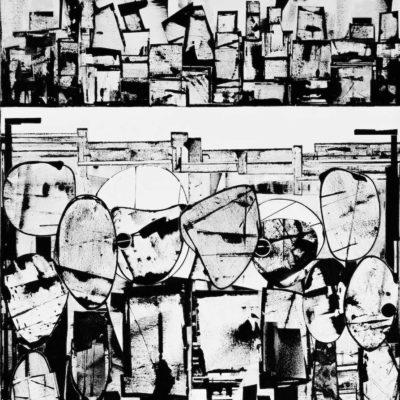2018 | Collage + Malerei + Acryl auf Leinwand | 110 x 90cm © Ursula van Boekel