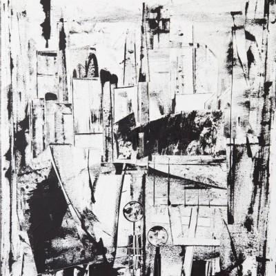 2013 | Collage + Malerei + Acryl auf Leinwand | 110 x 90cm © Ursula van Boekel